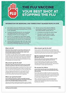 Flu Vaccinations for Aboriginal or Torres Strait Islanders